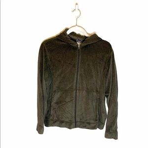 Patagonia Green Full Zippered Luxury Fleece Hoodie